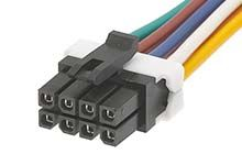 Molex Micro-Fit 45132 Series Number Wire to Board Cable Assembly 2 Row, 8 Way 2 Row 8 Way, 1m