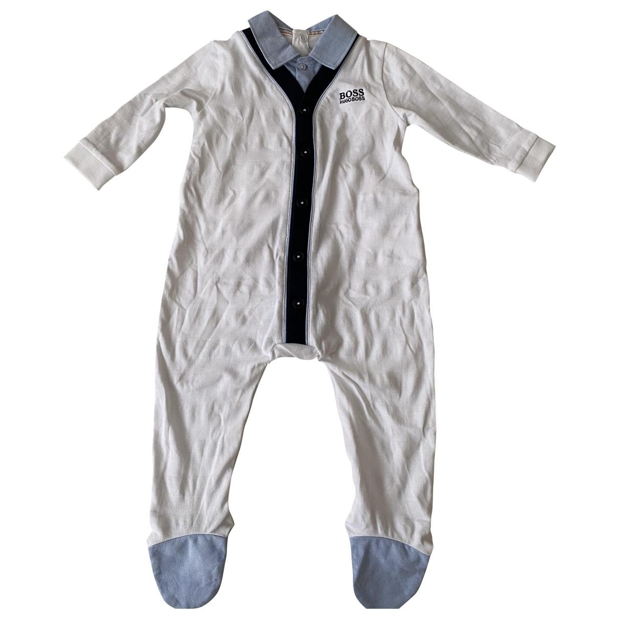 Hugo Boss - Les ensembles   pour enfant en coton - blanc