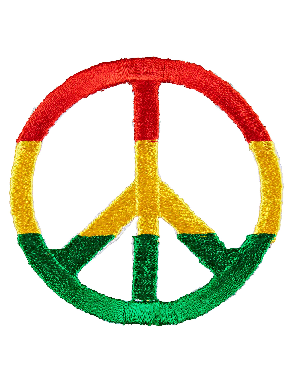 Kostuemzubehor Aufnaeher Peace Jamaika 2-tlg. Farbe: rot/gelb/gruen