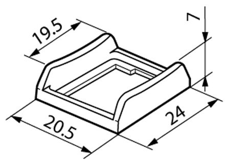 NKK Switches , Rocker Switch Bezel, For Use With JWS Series Internationally Approved Rockers (5)