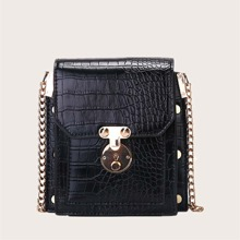 Crocodile Chain Crossbody Bag
