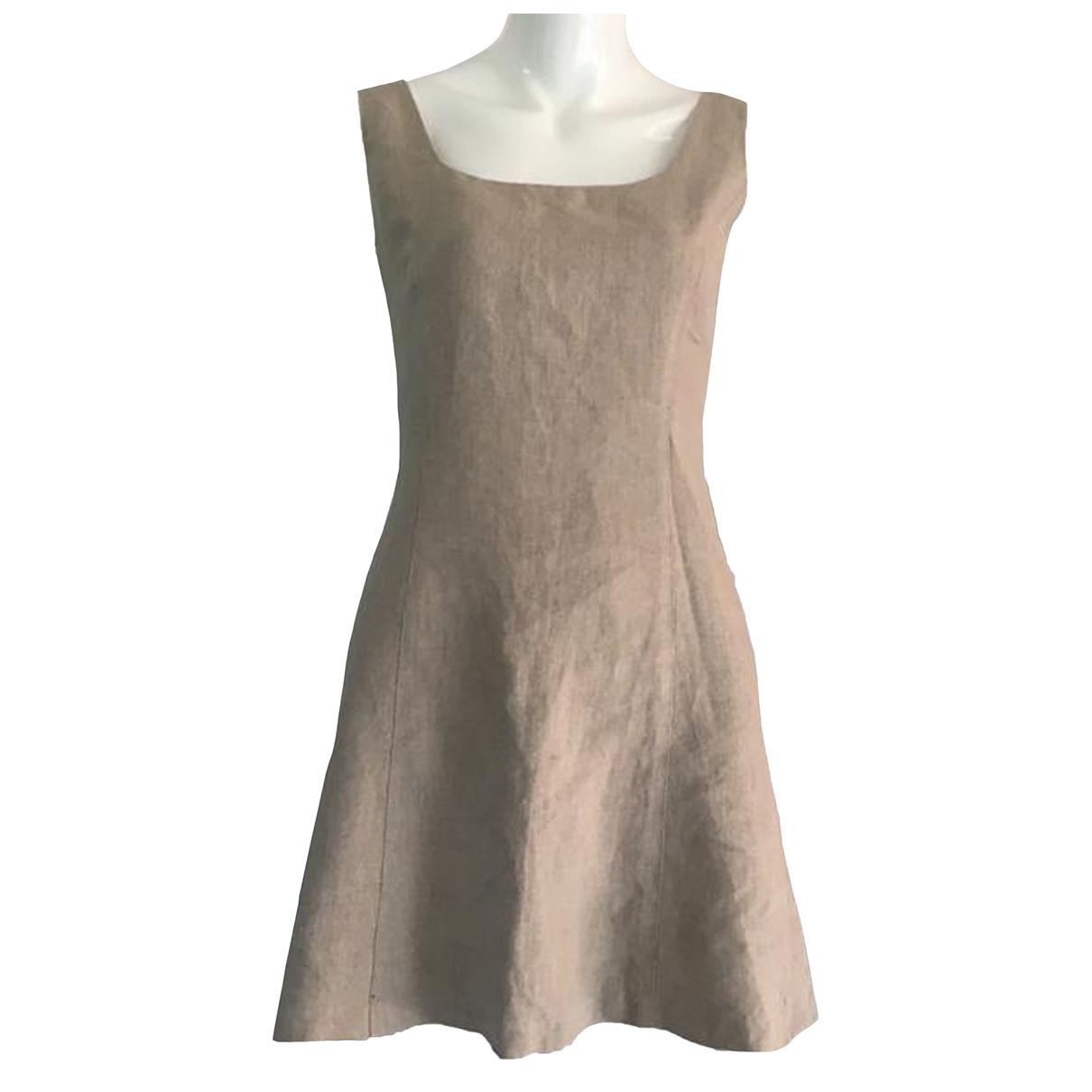 Calvin Klein - Robe   pour femme en lin - beige