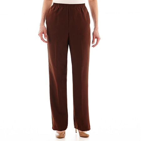 Alfred Dunner Pull-On Pants, 10 Petite , Brown