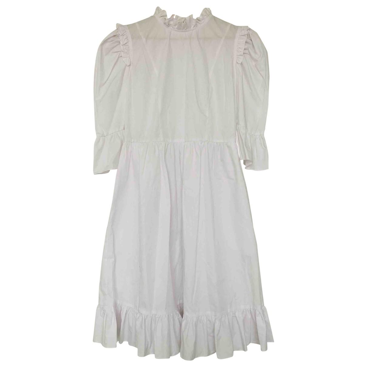 Batsheva - Robe   pour femme en coton - blanc