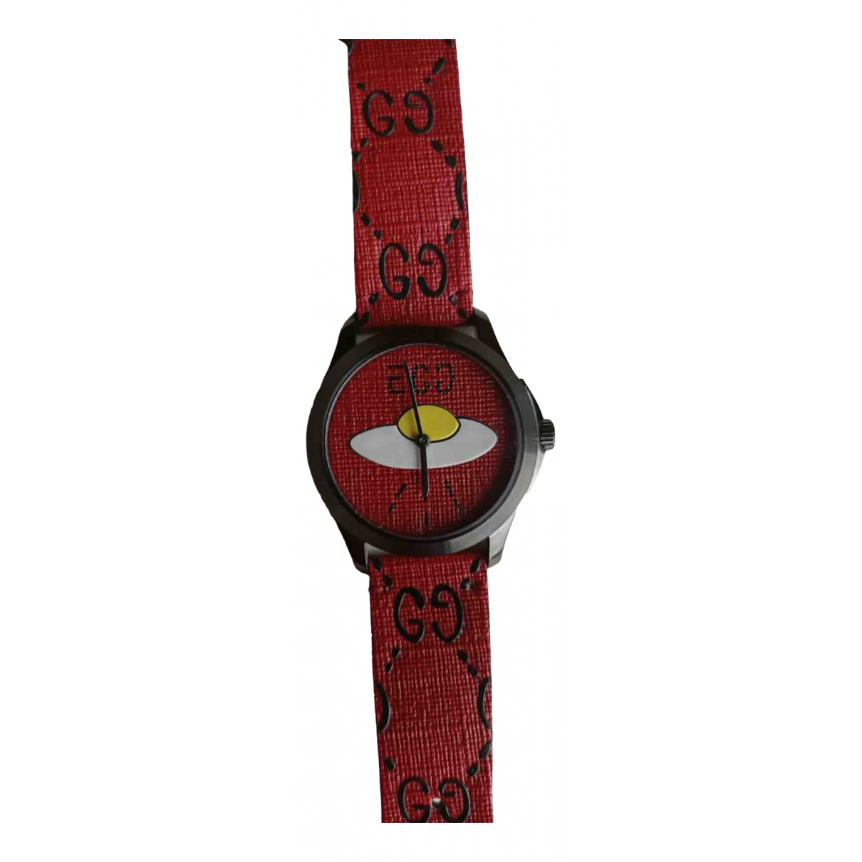Gucci G-Timeless Red Steel watch for Men \N