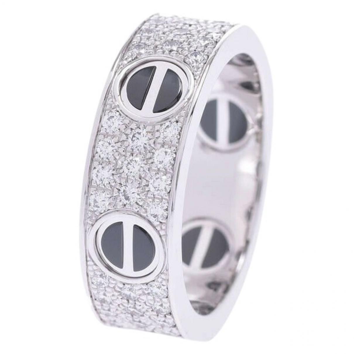 Cartier Love Ring in  Silber Leder