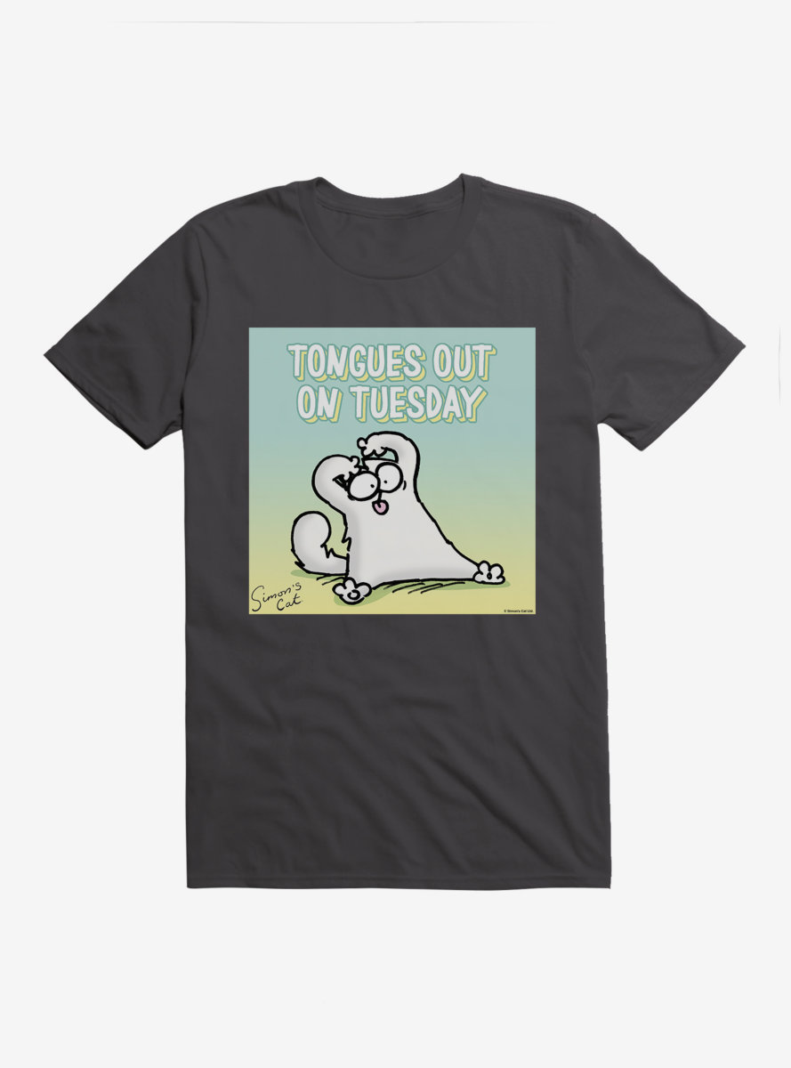 Simon's Cat Tongues Out On Tuesday T-Shirt