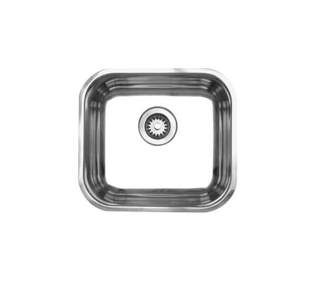 WHNU1614 Noah's Collection Brushed Stainless Steel single bowl undermount