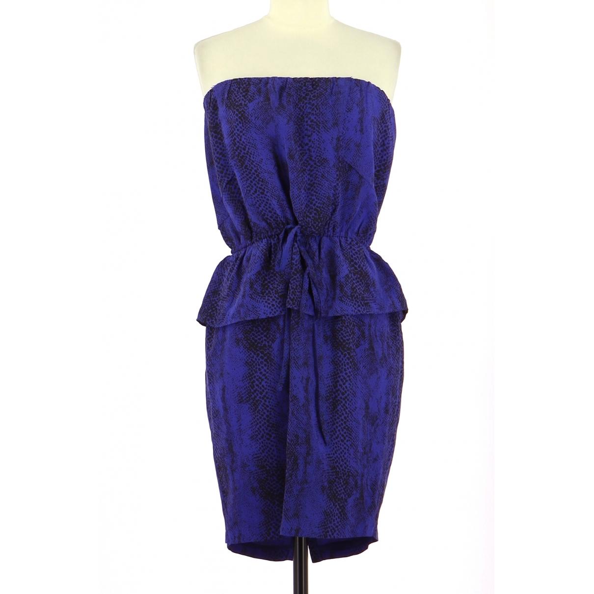 Bel Air - Robe   pour femme en soie - marine