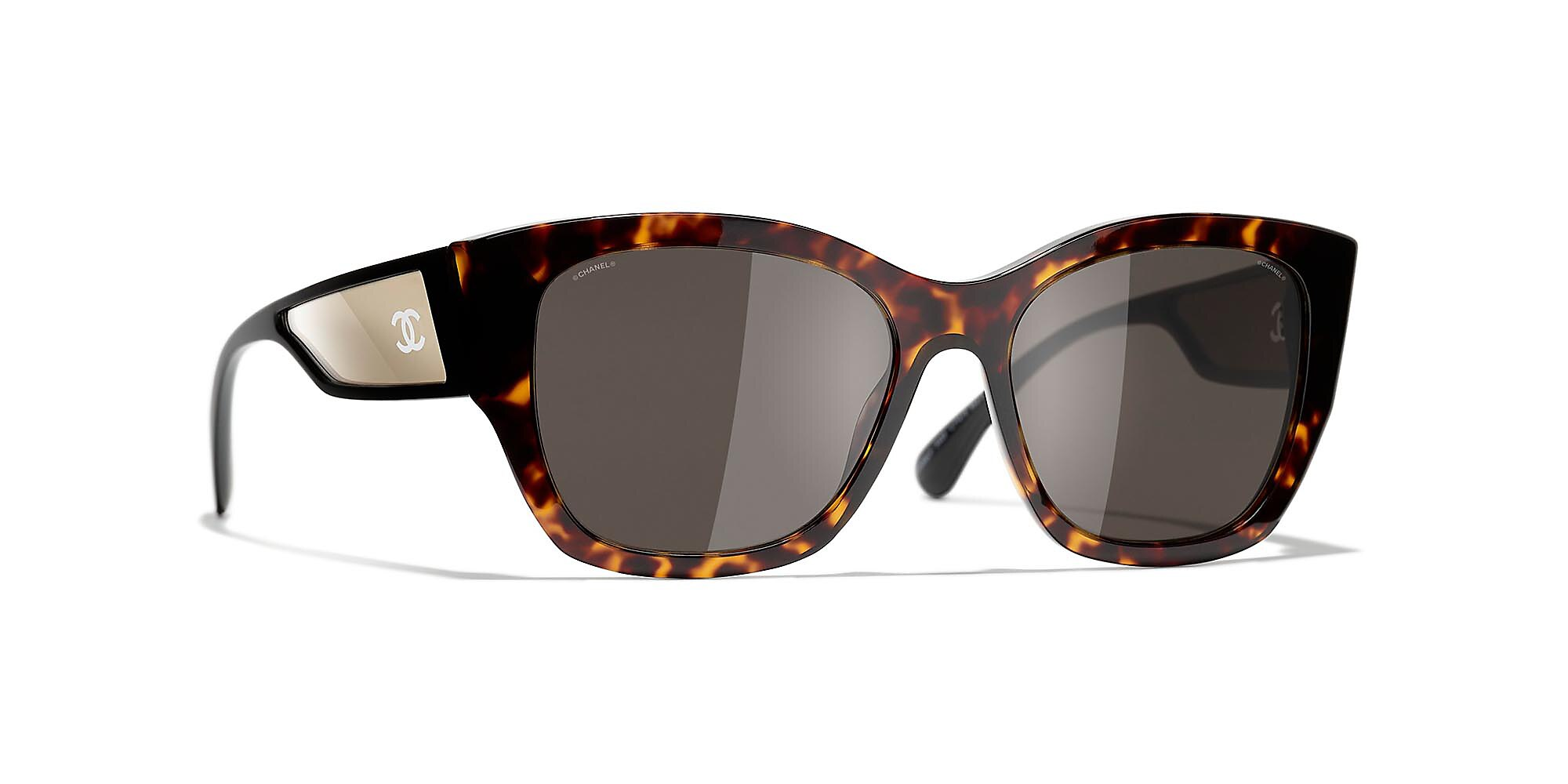 Chanel Unisex  Butterfly Sunglasses CH5429 -  Frame color: Tortuga oscuro, Lens color: Marron