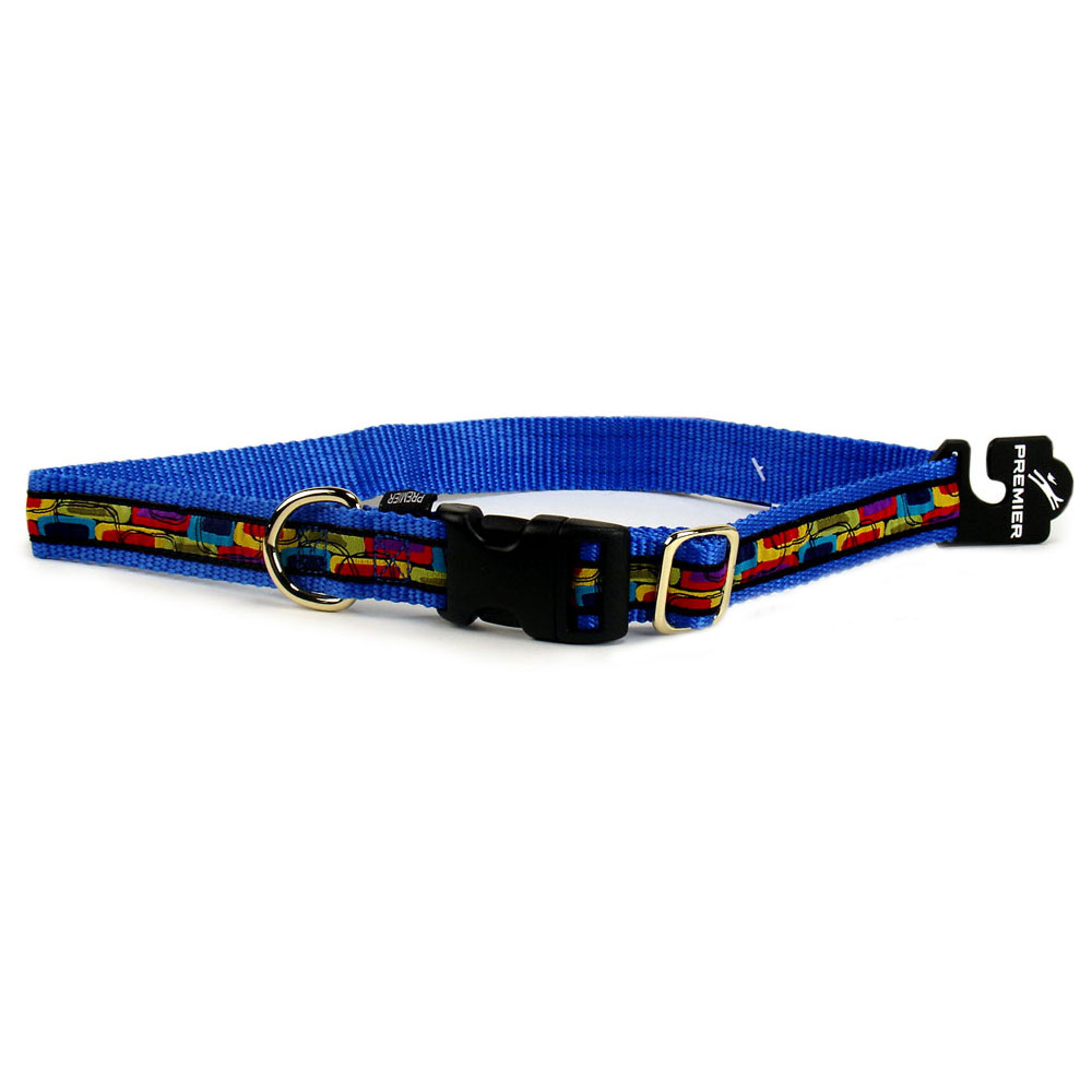 Premier Quick Snap Collar - MEDIUM / BLUE (3/4
