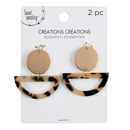 Creations Metal & Plastic Pendants By Bead Landing™ | 39mm x 37.7mm | Michaels®