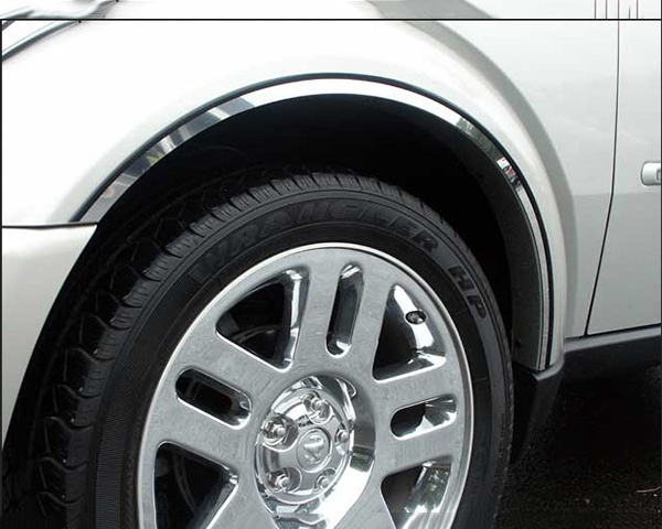 Quality Automotive Accessories 6-Piece Stainless Steel Wheel Well Fender Trim Kit Dodge Nitro 2008