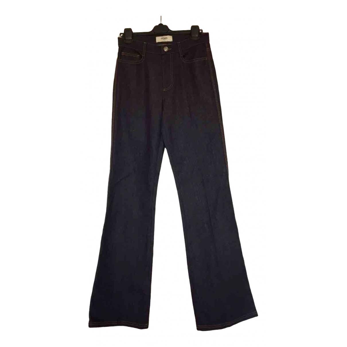 Fendi \N Blue Denim - Jeans Jeans for Women 40 FR