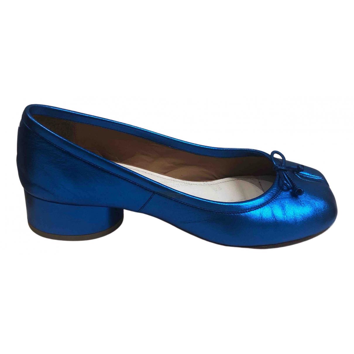 Maison Martin Margiela N Blue Leather Ballet flats for Women 38 EU