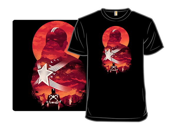 Red Guardian Sunset T Shirt