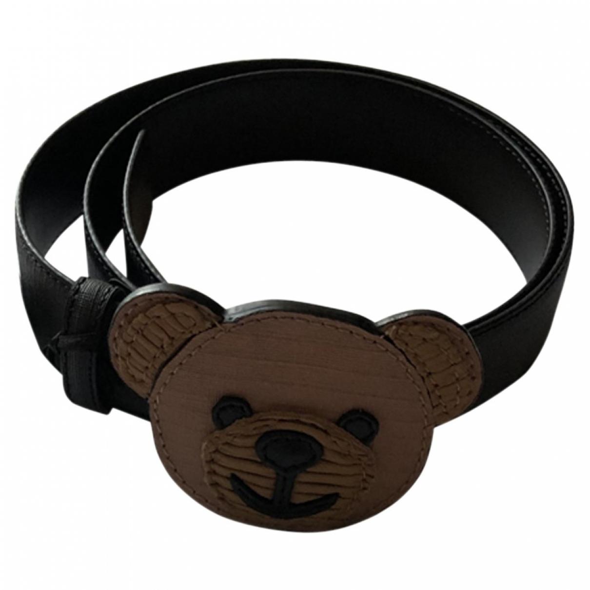 Moschino \N Black Leather belt for Women 95 cm