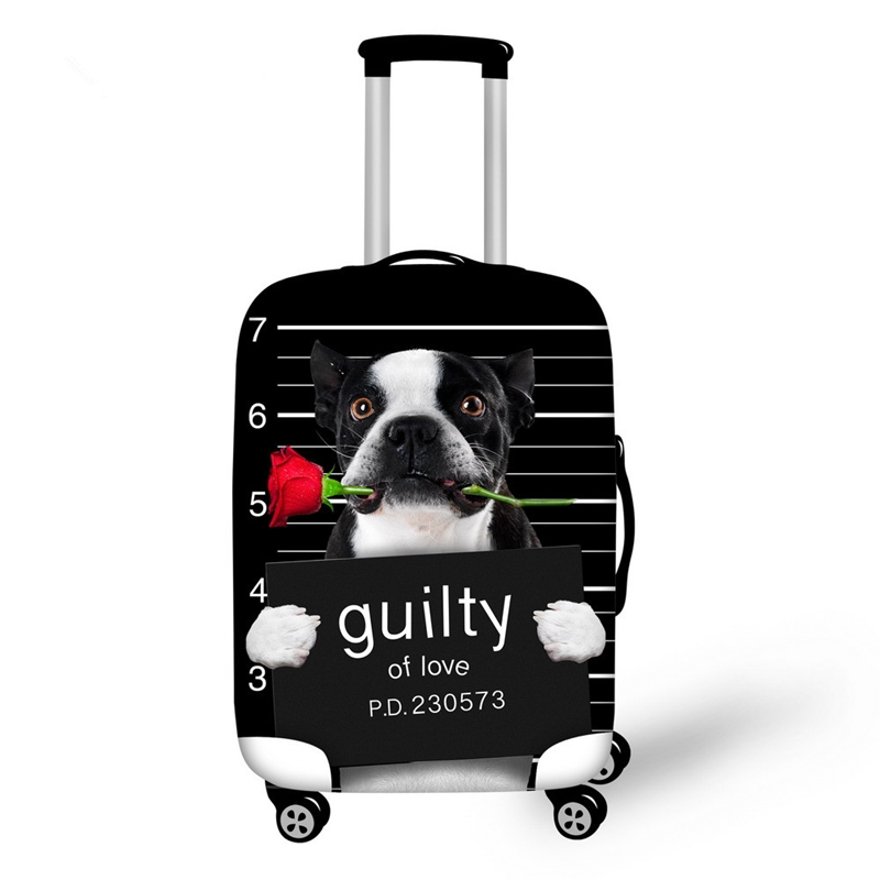 Kinds of Dogs with Rose Pattern 3D Painted Luggage Cover