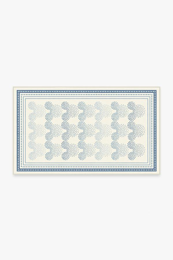Washable Rug Cover & Pad | Mickey Ombre Blue Rug | Stain-Resistant | Ruggable | 3x5