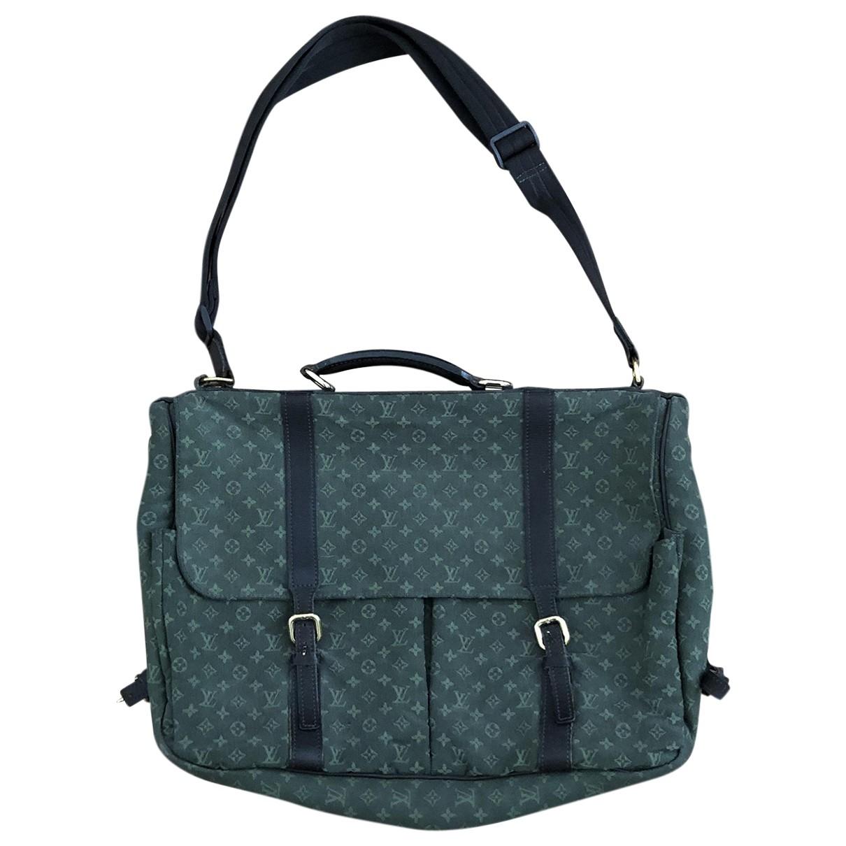 Louis Vuitton Maman Khaki Cloth handbag for Women \N