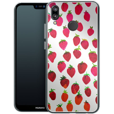 Huawei P20 Lite Silikon Handyhuelle - Strawberries von Amy Sia