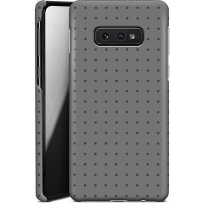 Samsung Galaxy S10e Smartphone Huelle - Dot Grid Grey von caseable Designs