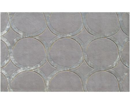 44157F 8 x 11 ft. Hedy Wool Art Silk Rug  in Gray and