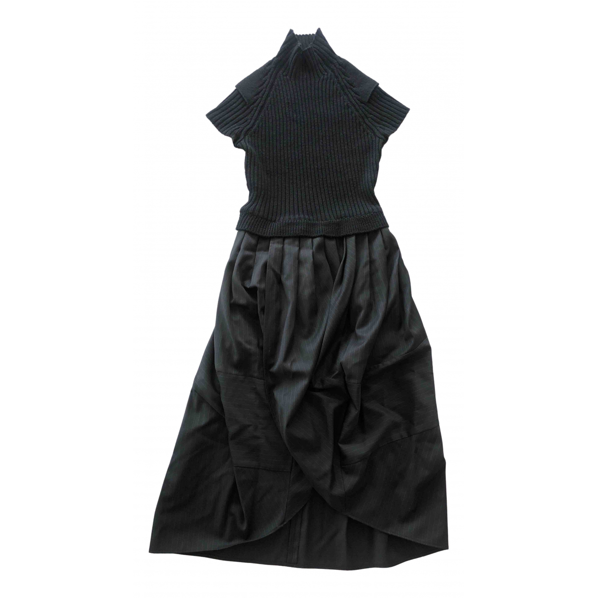 Non Signé / Unsigned \N Black Wool dress for Women 40 FR