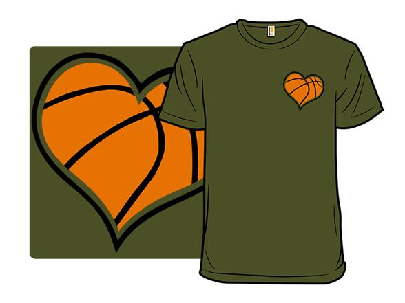 A Heart For Basketball T Shirt