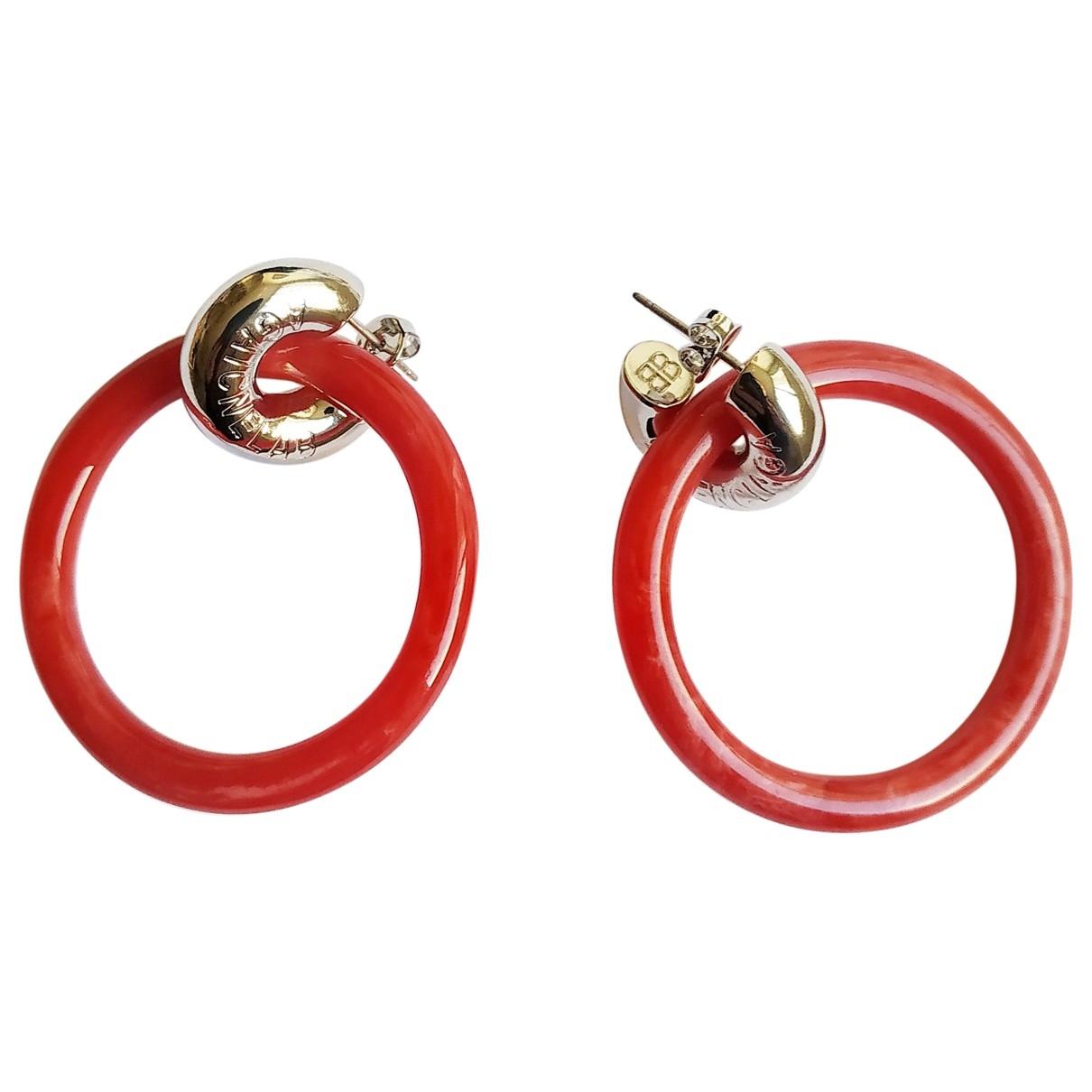 Balenciaga - Boucles doreilles   pour femme en metal - rouge