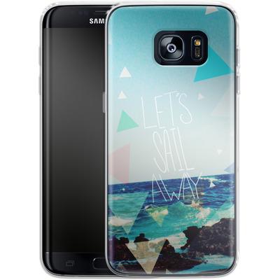 Samsung Galaxy S7 Edge Silikon Handyhuelle - Lets Sail Away von Leah Flores