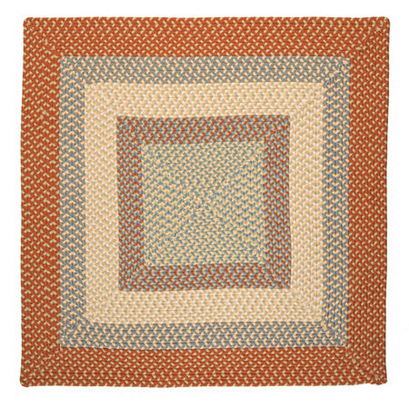 Montego Reversible Braided Indoor/Outdoor Square Rug, One Size , Orange