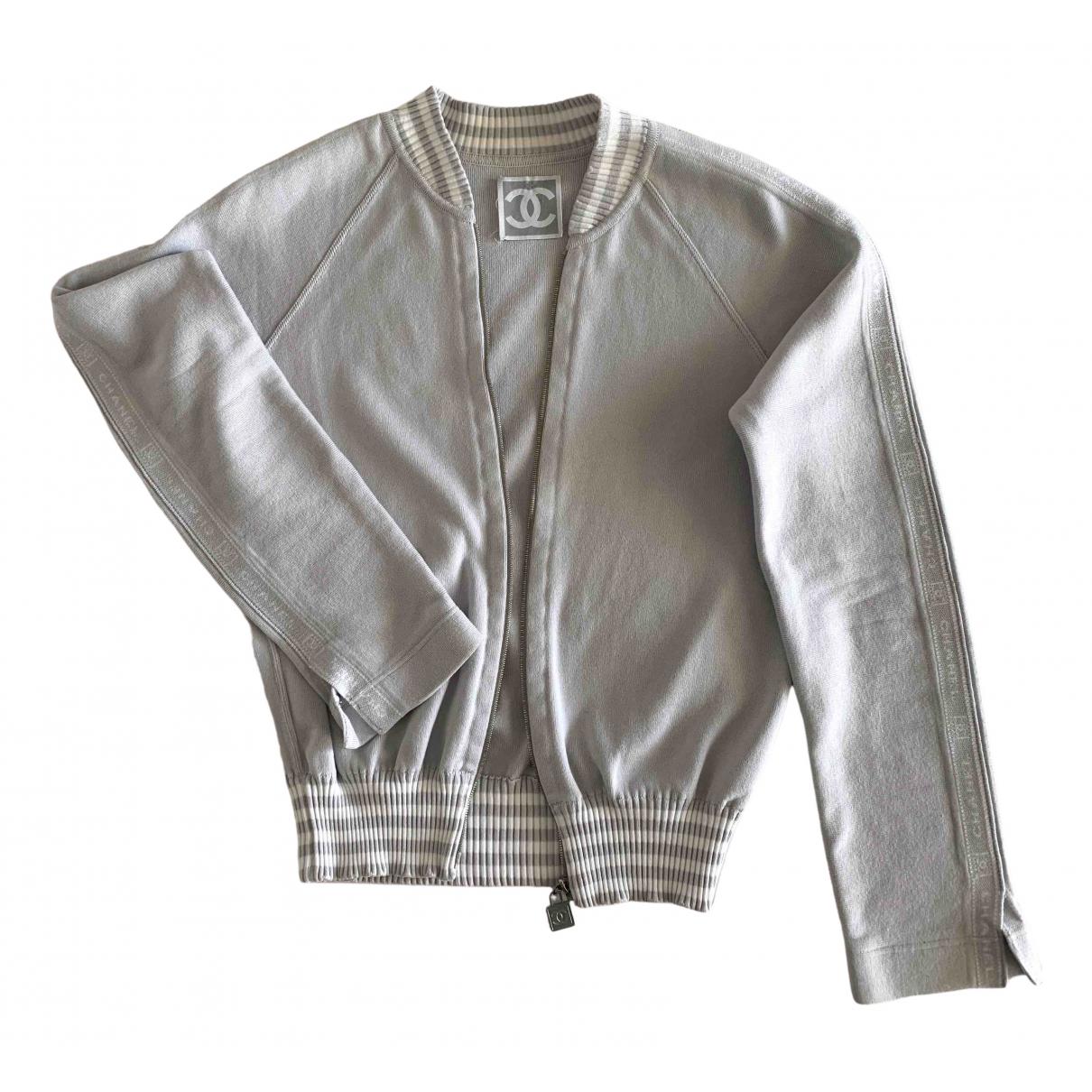 Chanel - Pull   pour femme en coton - gris