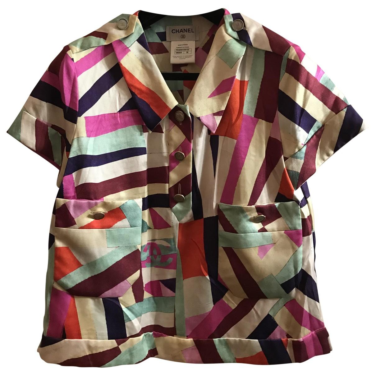 Chanel - Top   pour femme en soie - multicolore