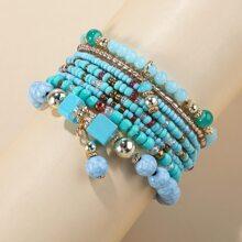 8pcs Beaded Bracelet