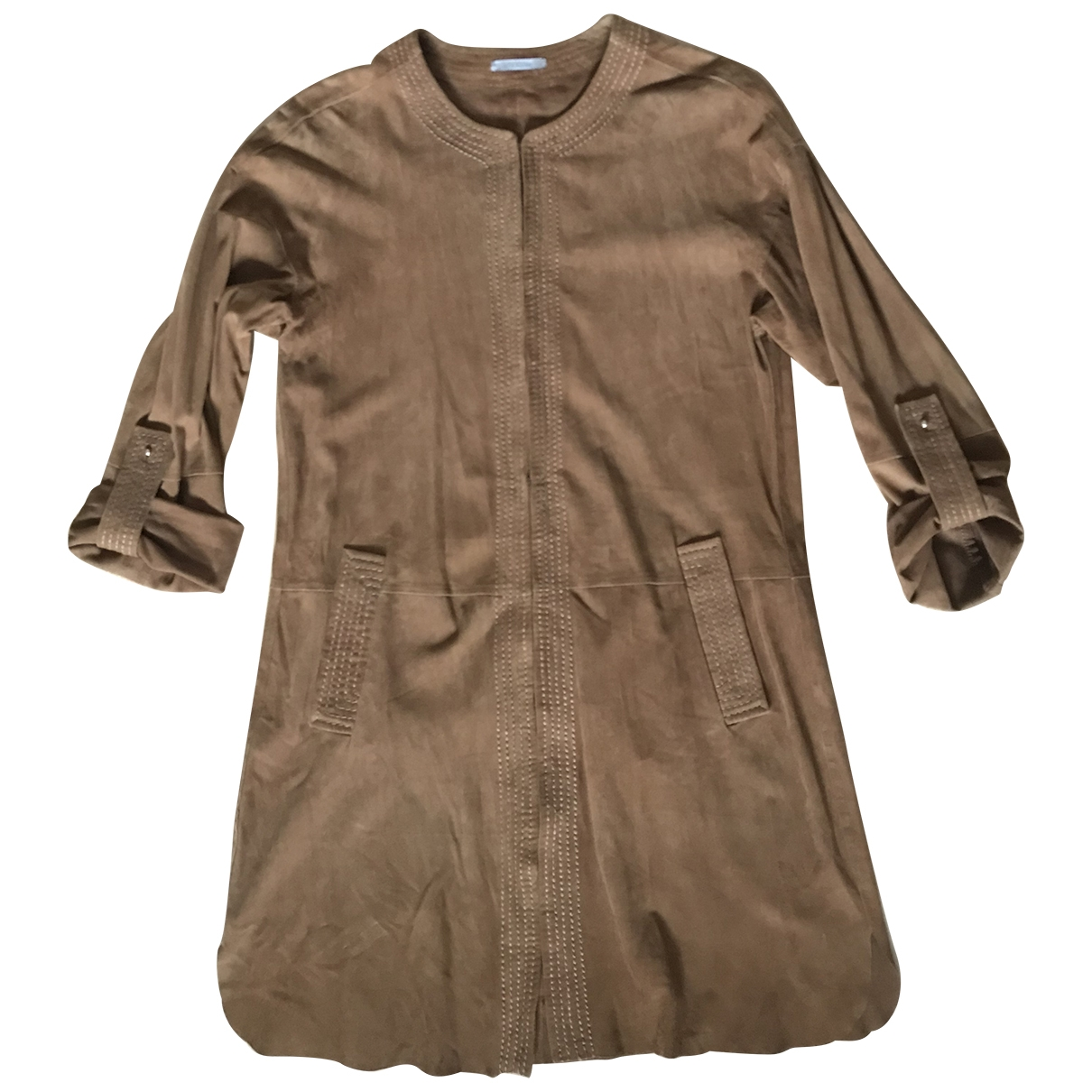 Uterque \N Camel Suede Trench coat for Women S International