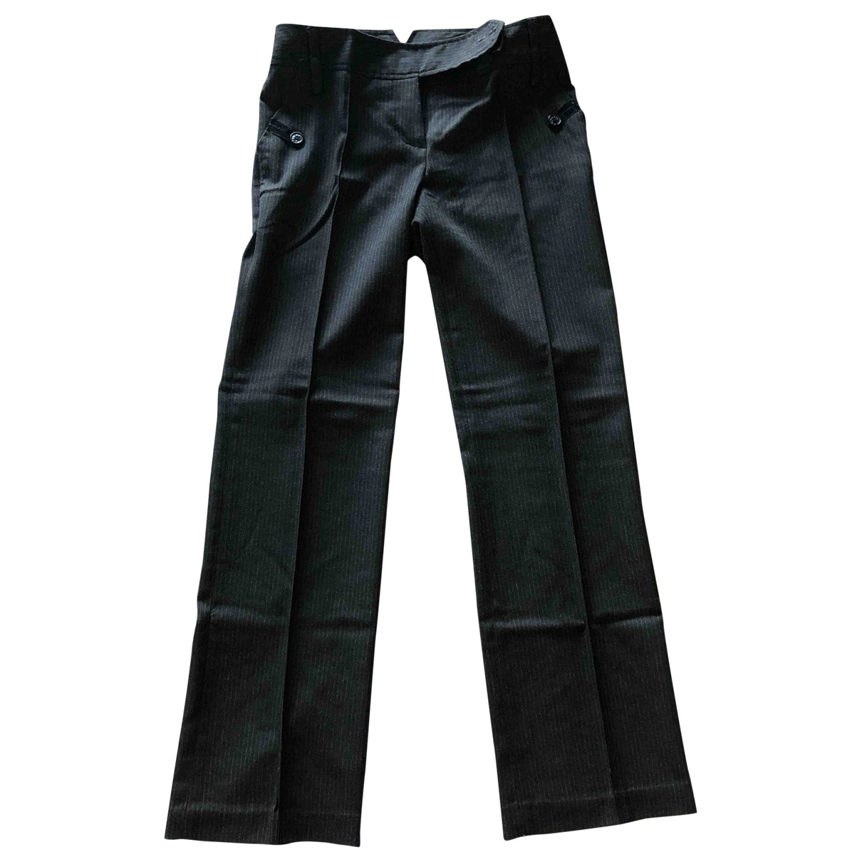 Non Signé / Unsigned \N Grey Trousers for Women 40 IT
