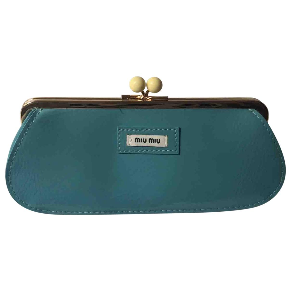 Miu Miu \N Blue Patent leather Clutch bag for Women \N
