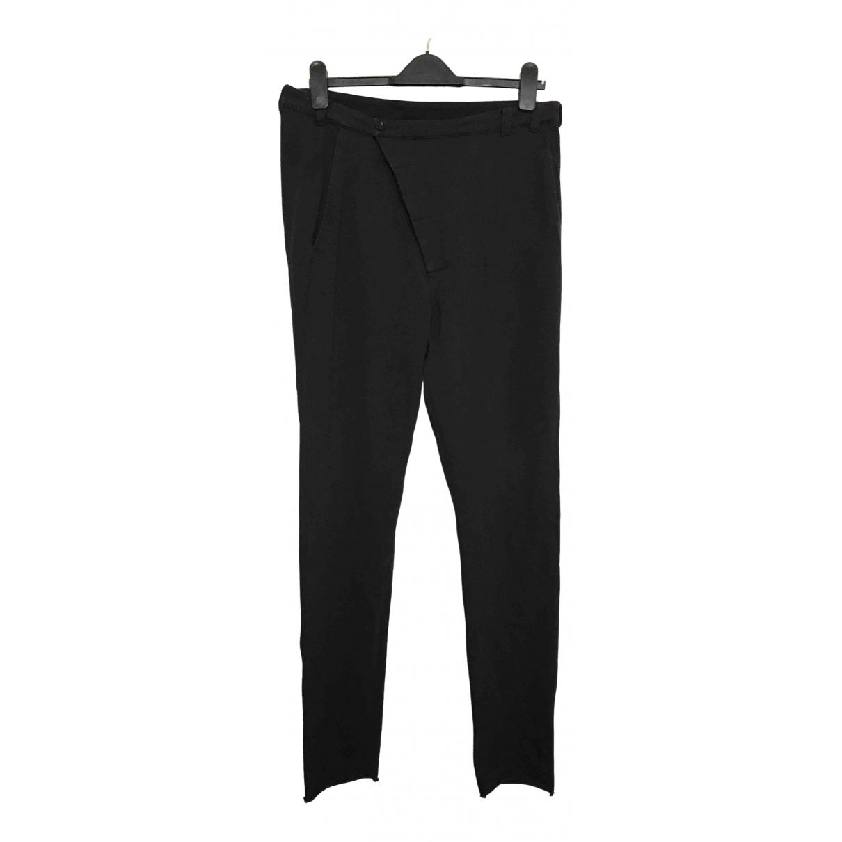 Pantalones en Algodon Negro Thom Krom