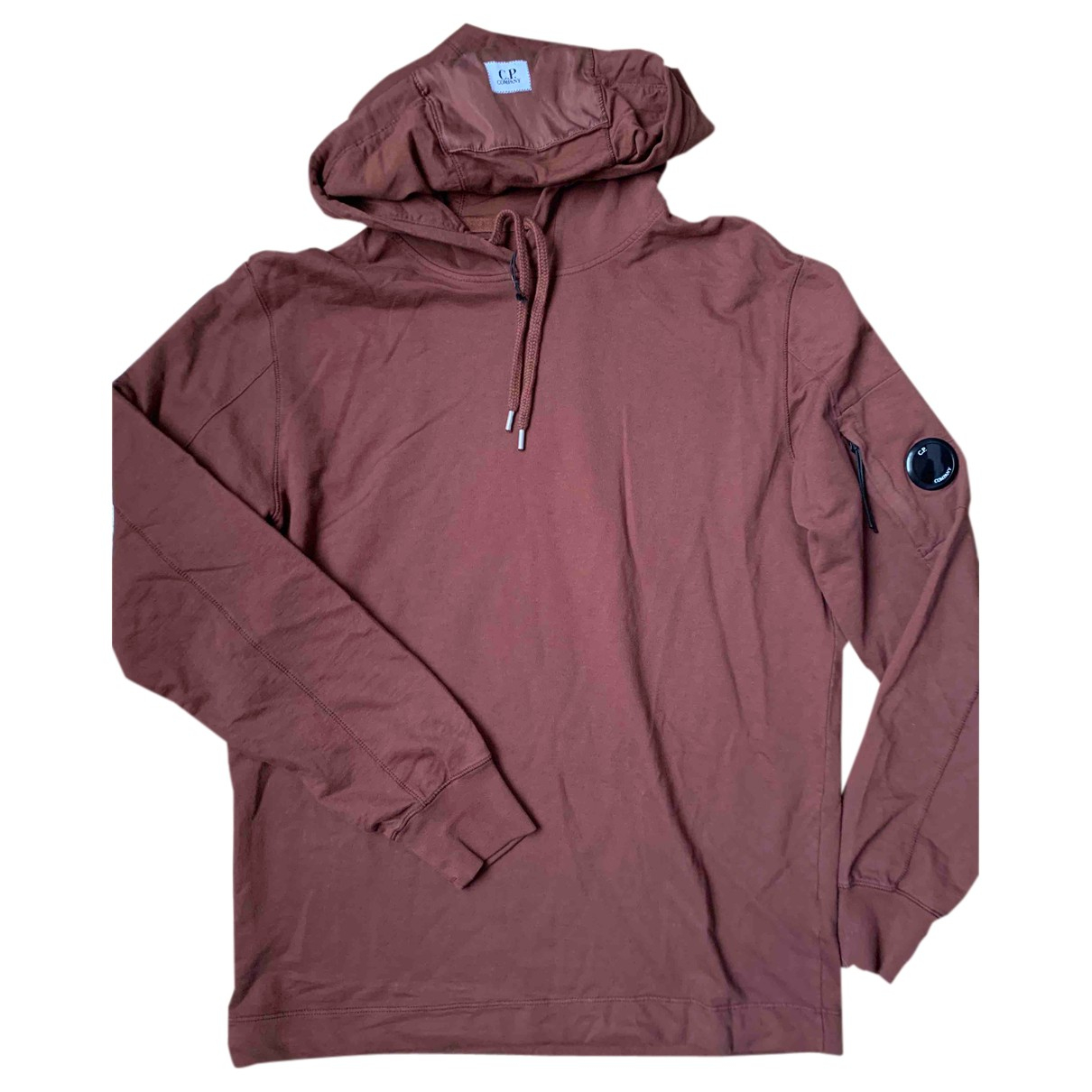 Cp Company \N Pullover.Westen.Sweatshirts  in  Bordeauxrot Baumwolle