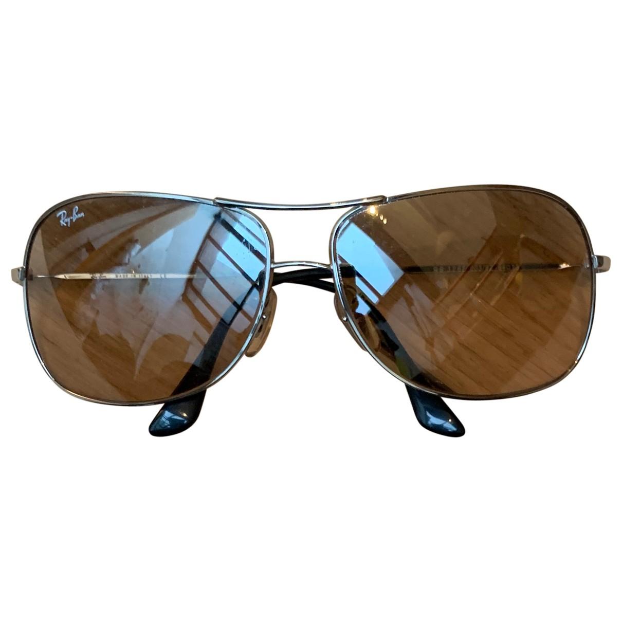 Ray-ban Aviator Silver Metal Sunglasses for Women N