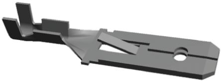 TE Connectivity , FASTIN-FASTON .250 Crimp Tab Terminal, 0.3mm² to 0.8mm², 22AWG to 18AWG, 6.3 x 0.8mm, Tin (100)