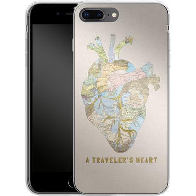 Apple iPhone 7 Plus Silikon Handyhuelle - A Travelers Heart von Bianca Green