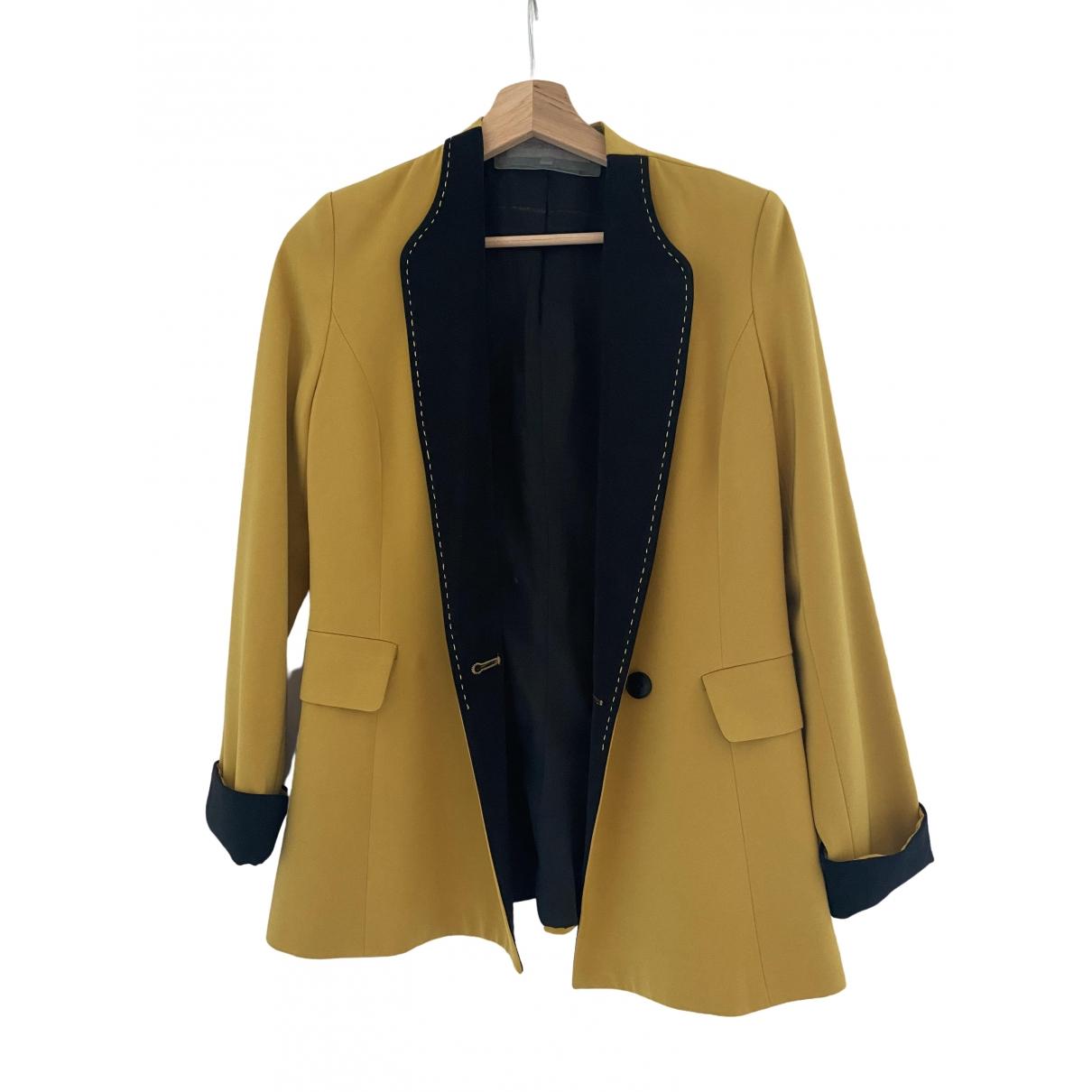 Sport Max - Veste   pour femme en soie - jaune