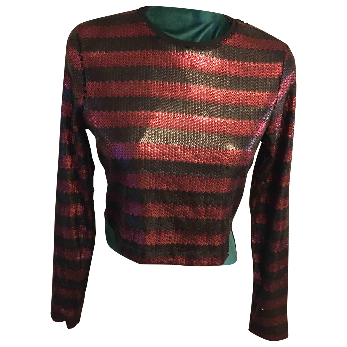 Zara - Top   pour femme en a paillettes - multicolore