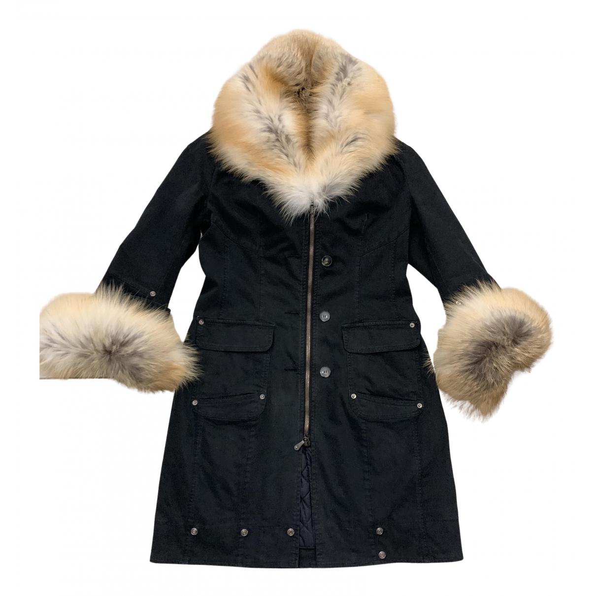 Ermanno Scervino N Black Cotton coat for Women 42 IT