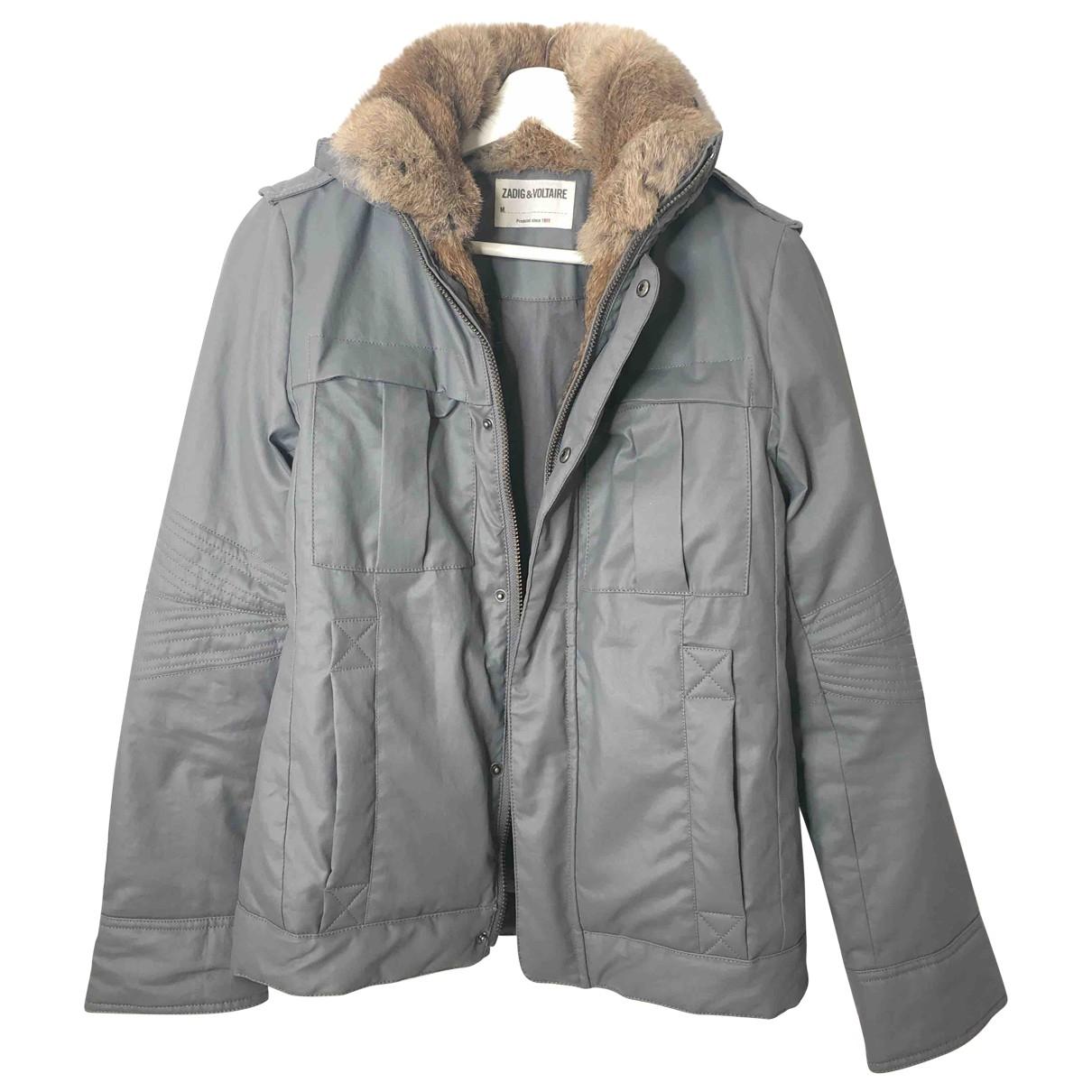 Zadig & Voltaire \N Grey Cotton coat for Women 34 FR