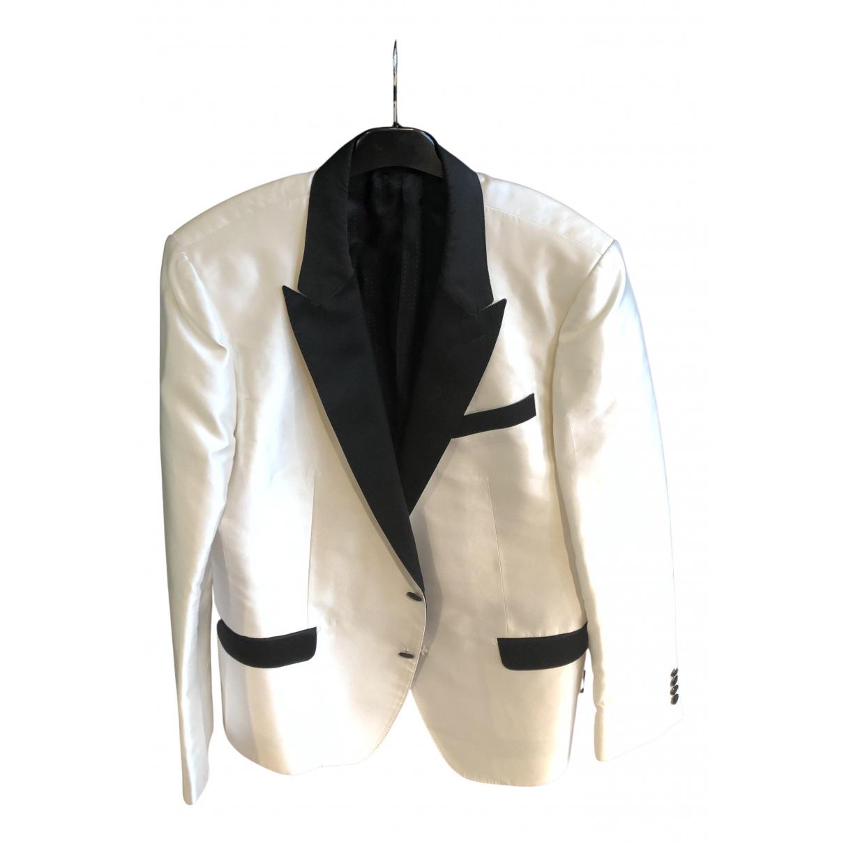 Dolce & Gabbana - Vestes.Blousons   pour homme en soie - blanc