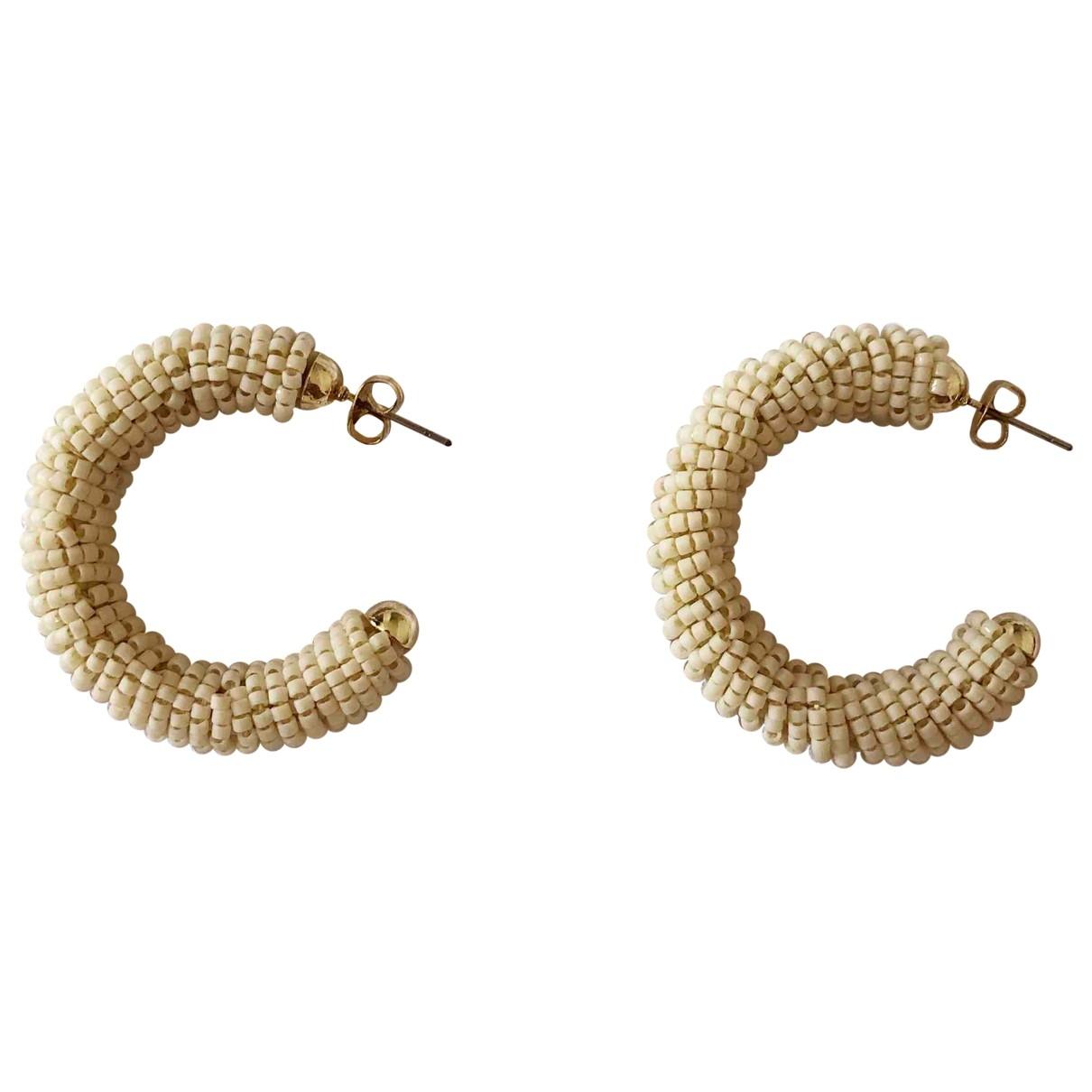 Sézane Spring Summer 2020 Ecru Metal Earrings for Women \N