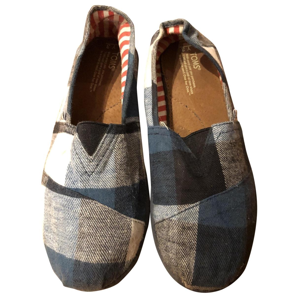 Toms \N Sandalen in  Blau Leinen